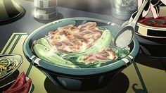 Are you more of a chicken person? Have some tender chicken over steamed brown rice and vegetables: | 29 Times Anime Mastered This Whole Food Thing