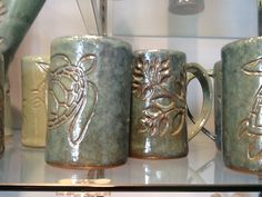 Hand made coffe cups, found inside The Cotton Company on the Gallery Side.