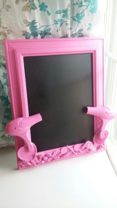 Pink hairstylist salon chalkboard by CheeseCrafty on Etsy