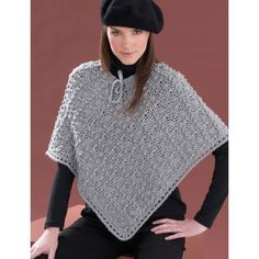 Perfect Patterned Poncho  Extra Small to 3/5 Extra Large
