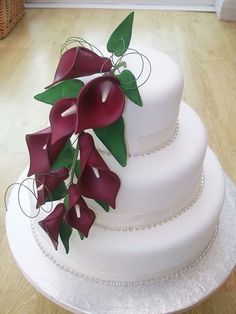 Red Calla Lily Wedding Cake Design 4 Picture in Wedding Cake – İnteresting Cake İdeas Wedding Shower Cakes, Fall Wedding Cakes, Elegant Wedding Cakes, Elegant Cakes, Beautiful Wedding Cakes, Wedding Cake Designs, Beautiful Cakes, Lys Calla, Calla Lillies