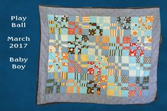 Play Ball!  Baby Boy Quilt