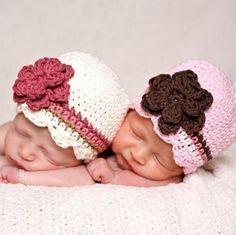 gorra con flores