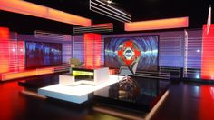 BBC Sporting Tv Set Design, Stage Design, Virtual Studio, Tv Sets, Video Studio, Bbc, House Styles, Studio Design, Projects