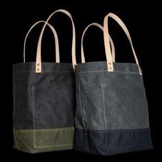 Strawfoot Handmade Waxed Canvas Tote Bag