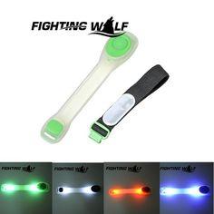 스포츠 자전거 빛 다리 팔 휴대용 실행 안전 램프 2 모드 LED 자전거 자전거 조명 배터리 야외 하이킹 미니 빛