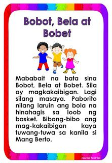 Teacher Fun Files: Tagalog Reading Passages 17 Kindergarten Graduation Speech, Kindergarten Teachers, Reading Comprehension For Kids, Reading Passages, Grade 1 Reading, Reading Charts, Classroom Bulletin Boards, Visual Aids, Tagalog