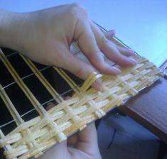 Квадратное армированное дно ситцевым плетением. | Страна Мастеров