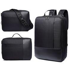 16.5inch Laptop Multifunctional Men Nylon Backpack Business Travel Handbag Crossbody Bag