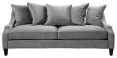 soft and comfy sofa for family room in metallic fabric or in a non-metallic dark charcoal to be more child friendly