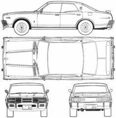 Datsun Bluebird 510 wagon | blueprints | Pinterest