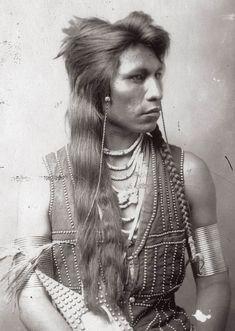 """""""Shoshone Warrior,"""" 1884."""