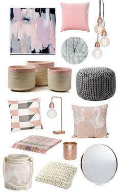 Trending Items – Blush Pink – Click through for stockists…. Trending Items – Blush Pink – Click through for stockists. Trending Items – Blush Pink – Click through for stockists…. Decor Room, Living Room Decor, Living Spaces, Uni Room, Diy Furniture, Furniture Plans, Bedroom Furniture, Diy Bedroom, Master Bedroom