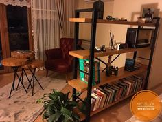 Doğal Ahşap Masif Kitaplık  Ev Dekorasyonu Home design wood decor  www.mozilya.com