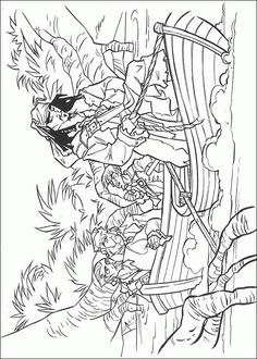 pirates of the caribbean coloring pages 13