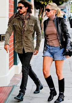 Martin Mica & Sharon Stone in Los Angeles, Gabriel Spaniol ...