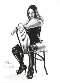 Pen & Ink Drawing, A4 - Kinky Boots by PetesPiccies on Etsy