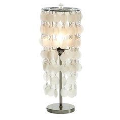 Hanging Capiz Shell Table Lamp - Free Shipping Today - Overstock.com - 17563266 - Mobile