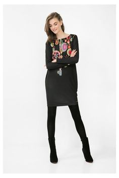 A classic dress you can dress up with a pair of heels or down with a pair of leggings and some boots! Gotta love Desigual!