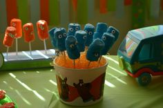 Spooky marshmallow pops at a Scooby Doo Party #scoobydoo #party