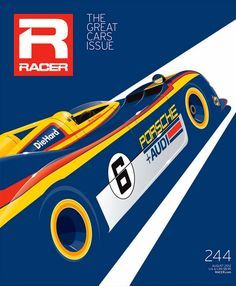 Editorial Design: RACER magazine cover by Ricardo Santos