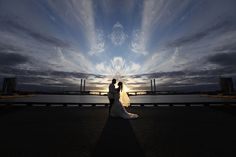 Romance in a silhouette at Docklands Melbourne