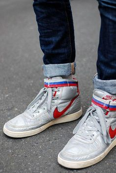 30af3ec397e9 These Baby s are like a poor man s Nike Mag. Feel like Marty McFly every  time I lace up! Nike Vandal Supreme metallic silver samba – black Style  Code  ...