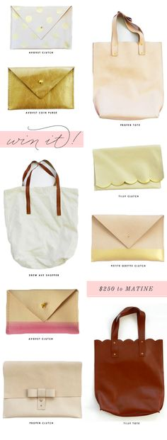 Beautiful leather clutches!