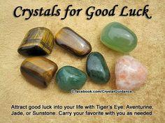 Crystal for Good Luck : Tiger's Eye, Aventurine, Sunstone