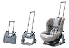 Brica Roll 'n Go Car Seat Transporter There are other baby seat wheels, but this one is small and easy. Toddler Car Seat, Baby Car Seats, Toddler Stroller, Forward Facing Car Seat, Rolling Car, Flying With Kids, Go To Walmart, Go Car, Cool Mom Picks