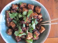 Yottam Ottolenghi's Spicy Black Pepper Tofu- this dish is wonderful.  I had read about it online and a friend had recommended it. I have finally made it and it is fab.