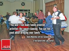 Square dancers Sheila and Wayne Mahathey of Marshall County