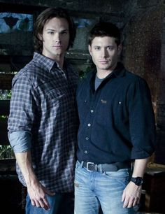 "Soulless Sam and ""Normal"" Dean (photoshop with Samuel cut out)"