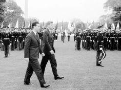 John F.Kennedy recevant Ahmed Ben Bella a la Maison Blanche, le 15 octobre 1962