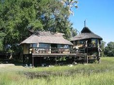 Raised decks are part of the lodge giving you a birds eye view of the bush.