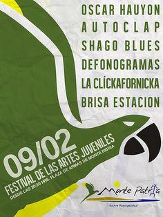FESTIVAL DE LAS ARTES JUVENILES - MONTE PATRIA    Sábado, 9 de febrero - 20.30 Hrs. Plaza de Armas de Monte Patria.