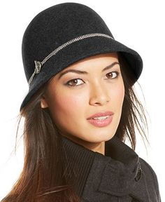 Calvin Klein Wool Felt Cloche with Toggle Chain - All Accessories - Handbags & Accessories - Macy's