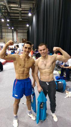 Oleg Verniaiev with no shirt! #olegverniaiev #gymnastics