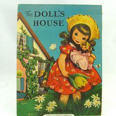 Vintage Pop Up The Doll's House 1950's Regal Paper Dolls
