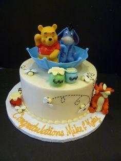 Winnie The Pooh Baby Shower Cake cakepins.com