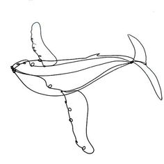 Hanging Whale Wire Sculpture by WiredbyBud on Etsy, $40.00