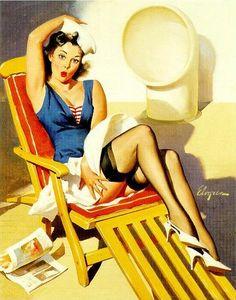 Skirts Ahoy (1967) - Gil Elvgren