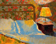 """My hotel room in Paris"": Augusto Giacometti, 1938."
