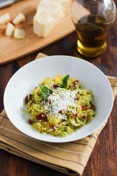 Spaghetti Squash with Sun dried Tomato and Basil - primaverakitchen.com