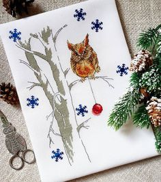 Xmas Owl, good simple design, one I would enjoy doing.