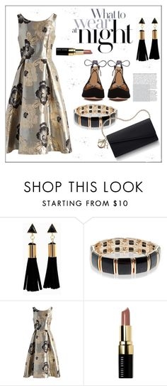 """""""My Style * Night Out"""" by pat912 ❤ liked on Polyvore featuring Accessorize, Chicwish, Bobbi Brown Cosmetics, Aquazzura and polyvoreeditorial"""