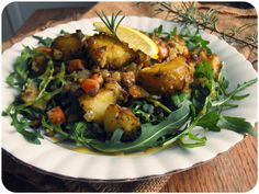 Herby Hot Potato Salad w/ Dijon Agave Dressing