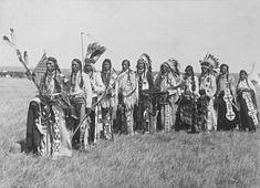 Blackfoot men near Calgary, Alberta - 1925