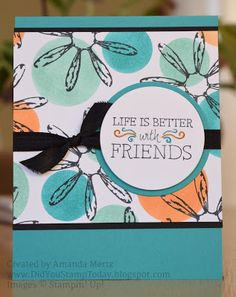 Did You Stamp Today?: Polka Dot Daisy Background - Stampin' Up! Daisy Delight