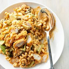 Send your tastebuds south with this spicy pasta salad: http://www.bhg.com/recipes/salads/pasta/pasta-salad-recipes/?socsrc=bhgpin101114southwesternchickenandmacaronisalad&page=4